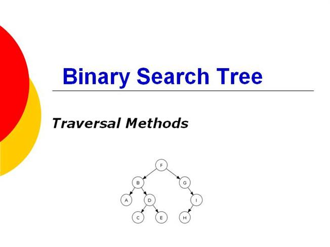 Binary search tree in data structure ppt