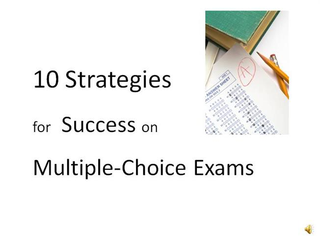Strategies for multiple choice questions powerpoint