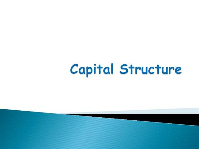 capital structure theories 8 this is obviously not realistic hence, theories of capital structure often assume some cost of bankruptcy that increases in debt, and derive optimal capital.
