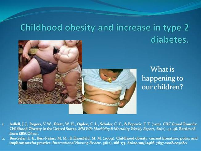 Childhood obesity and increase in type 2 diabetes for Childhood obesity powerpoint templates