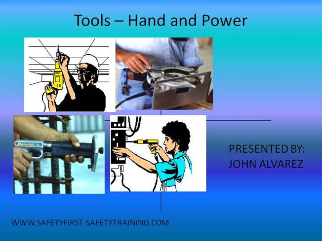 Electric Tools Safety  1 Ppt