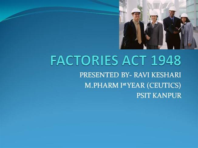 factory act 1948 pdf free download