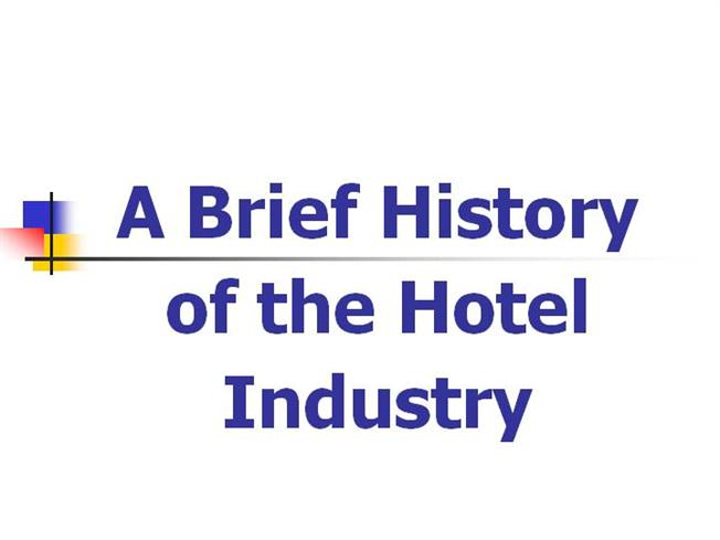 brief history of technology in hospitality industry