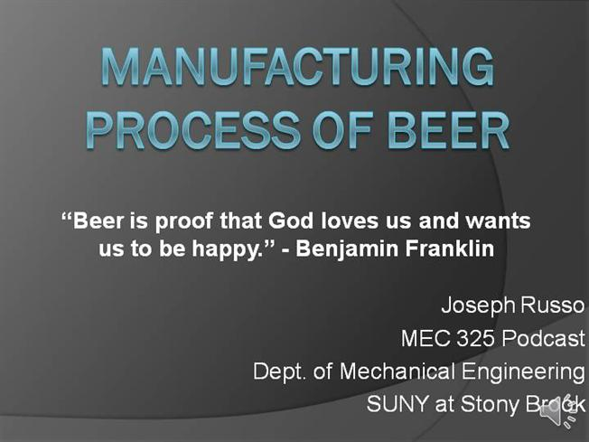 manufacturing process of beer authorstream. Black Bedroom Furniture Sets. Home Design Ideas