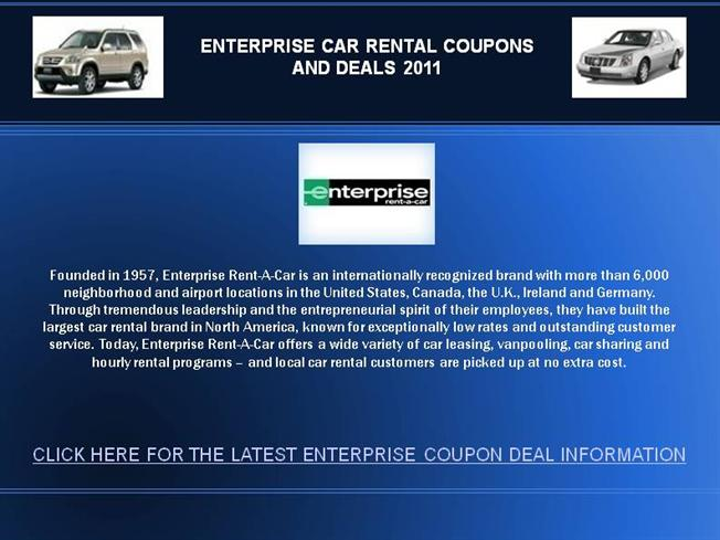 Enterprise car rental printable coupons free upgrade
