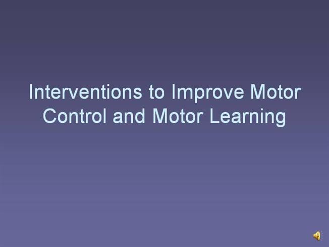 Mooch 2 Interventions To Improve Motor Control And Motor