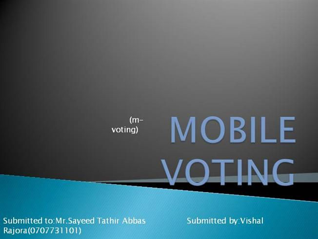 related literature of mobile voting system