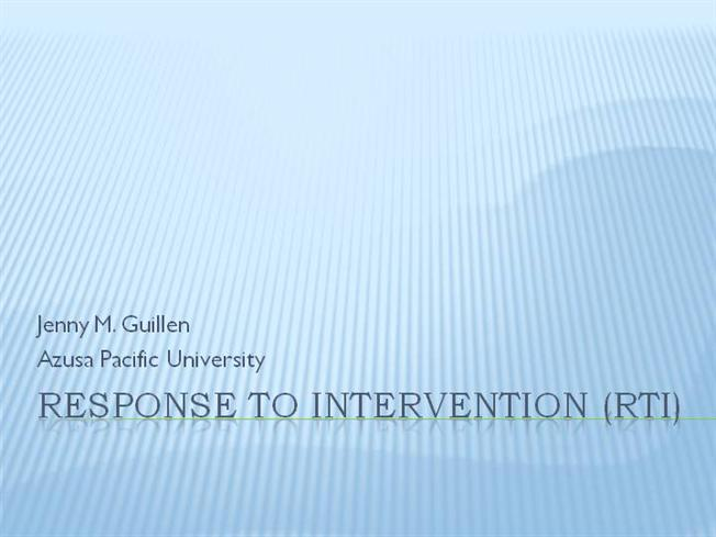 Response to intervention rti presentation authorstream for Response to intervention templates