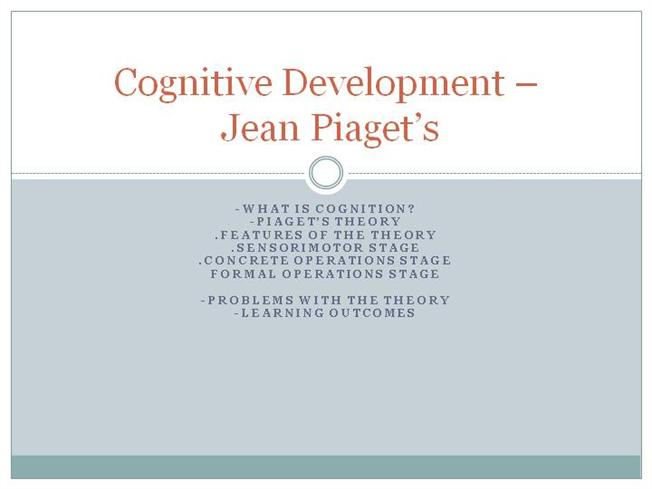 Piaget theory of cognitive development stages ppt to pdf