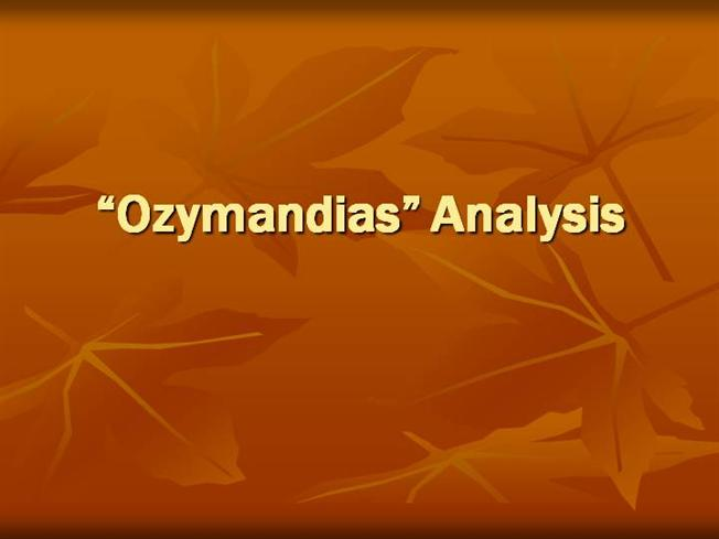 Ozymandias thesis statement