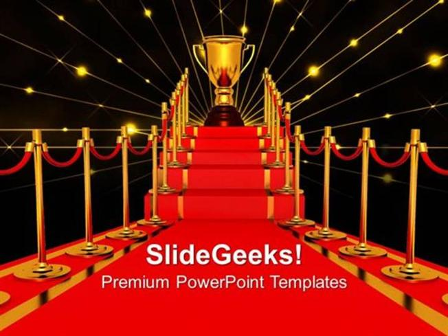 Winner On A Red Carpet Path Award Templates And Ppt Themes