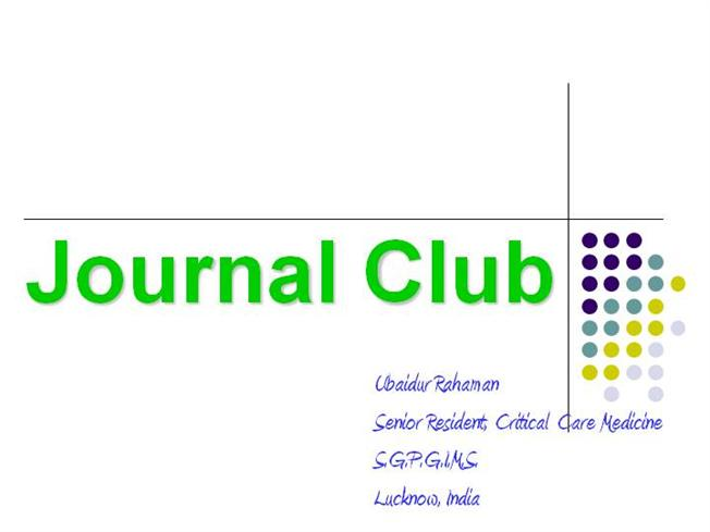 Journal club authorstream for Key club powerpoint template
