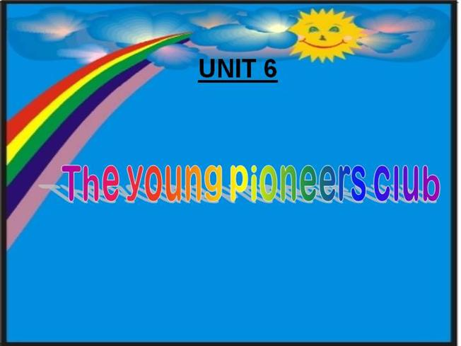 English 8 unit 6 the young pioneers club authorstream for Key club powerpoint template