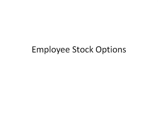 Employee stock options ccpc
