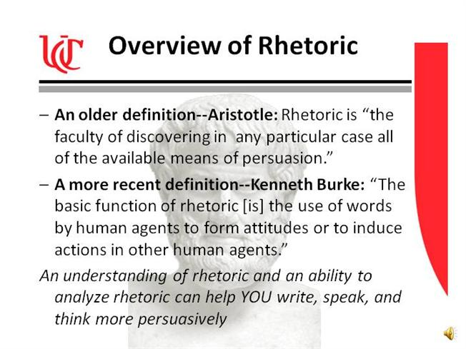 Rhetoric And Persuasion Authorstream