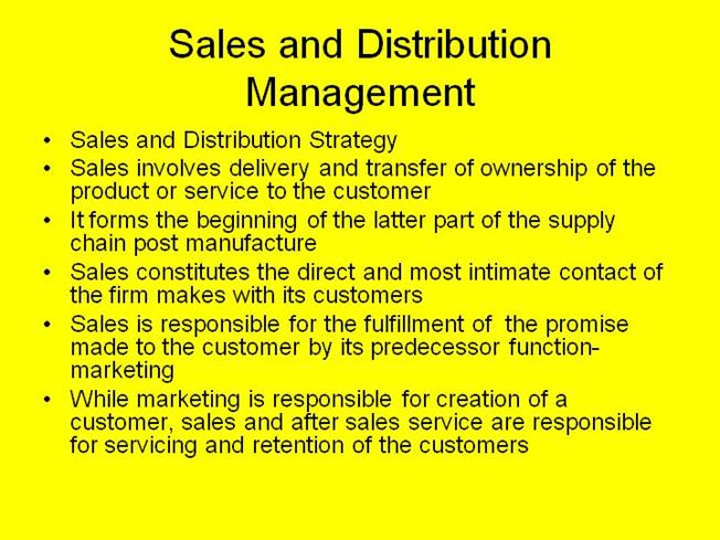 Sales And Distribution Management Authorstream