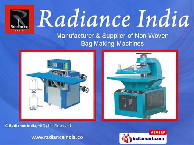 Non Woven Bag Making Machine by Radiance India, Gujarat ...