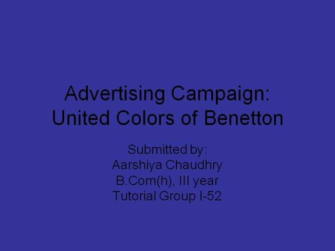 United Colors of Benetton Case Study Analysis & Solution