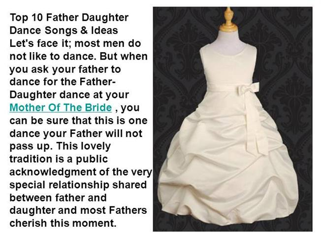 Top 10 Father Daughter Dance Songs & Ideas