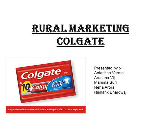 Strategies for rural marketing by colgate