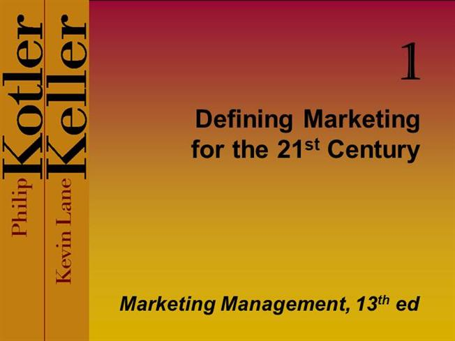Defining Marketing for the 21st century - PowerPoint PPT Presentation