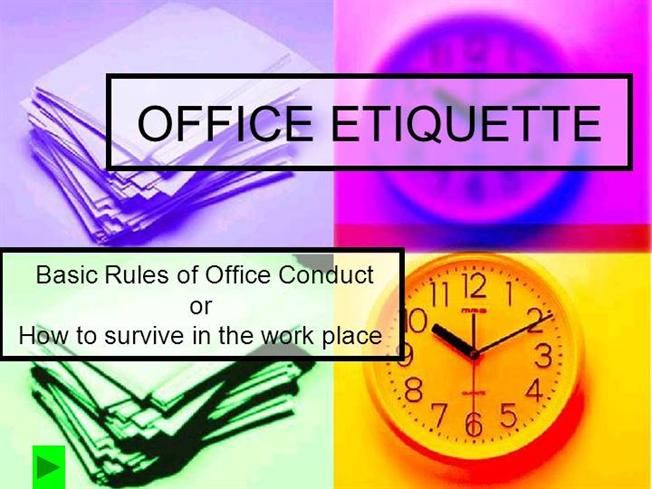 Office Manners And Etiquettes Office Etiquette