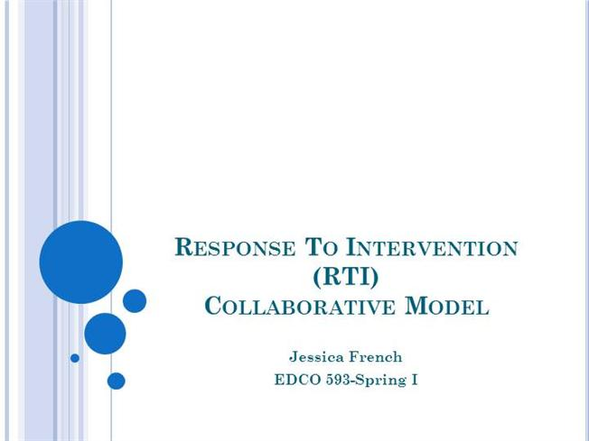 Edco 593 response to intervention rti authorstream for Response to intervention templates