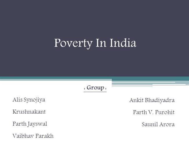 Urban poverty in india pdf download