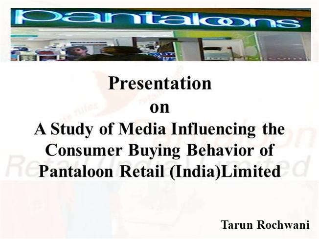 Consumer buying behavior research paper