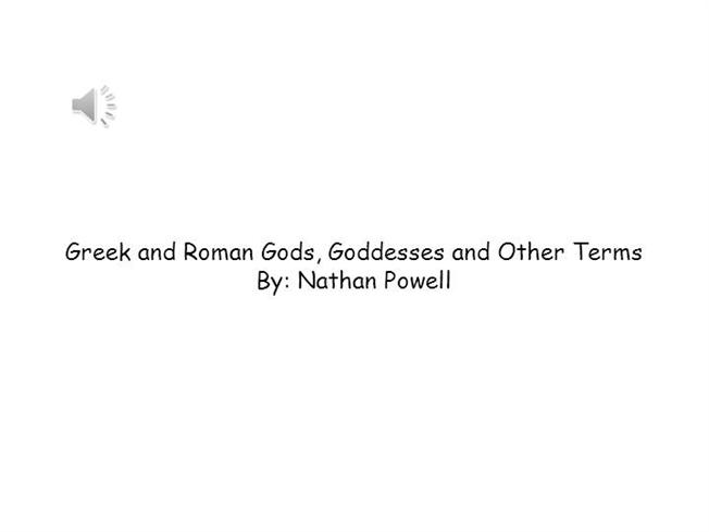 Greek And Roman Gods, Goddesses And Other Terms |authorSTREAM
