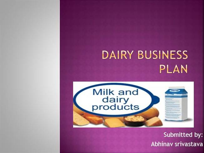 A Sample Dairy Farm Business Plan Template