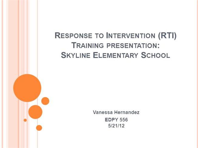 Response to intervention rti training authorstream for Response to intervention templates