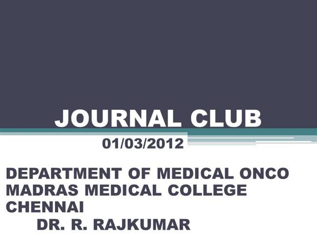 key club powerpoint template - metformin and cancer journal club authorstream