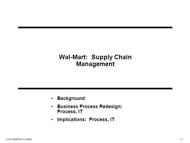 Wal mart supply chain management pdf - FOREX Trading