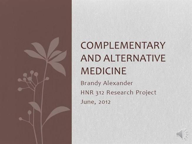 Complementary and alternative medicine ppt