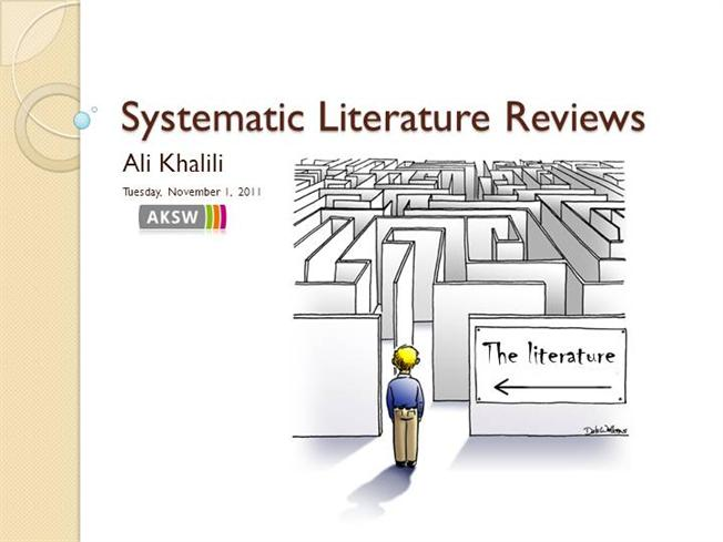 Writing a systematic review