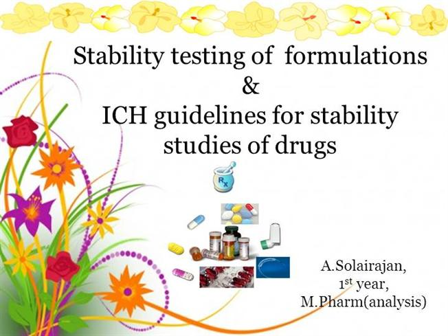 Stability testing of formulations authorstream for Stability study protocol template