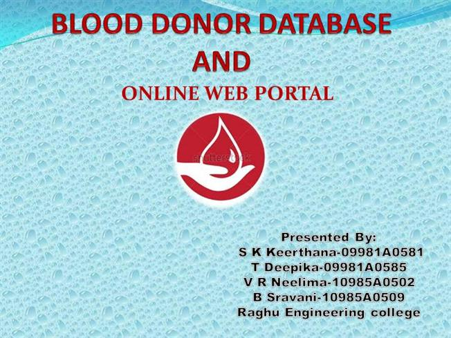 Blood Donor Ppt Authorstream