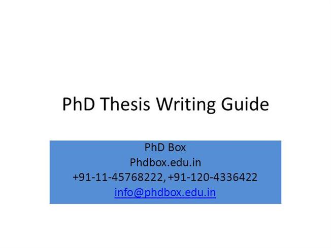 doctoral thesis writing services