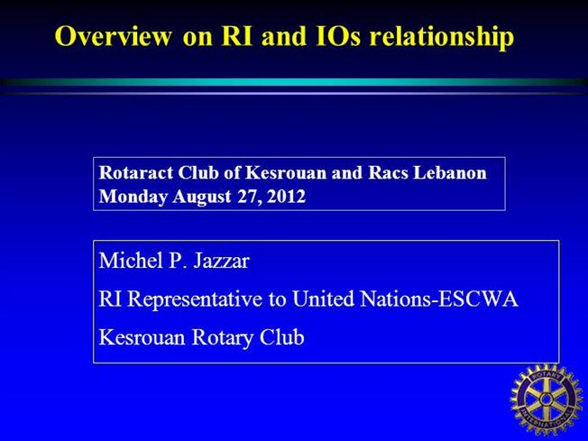 key club powerpoint template - rotary and international organizations authorstream
