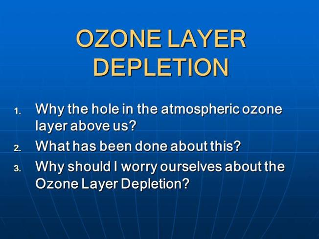 The theories on the ozone layers depletion