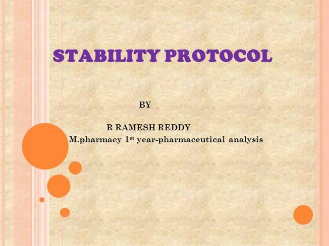 Stability protocol authorstream for Stability protocol template