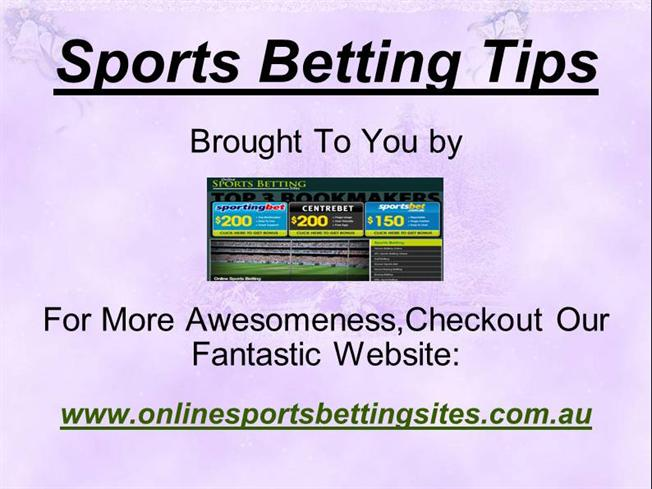 Sports Betting Tips from Online Betting Sites |authorSTREAM
