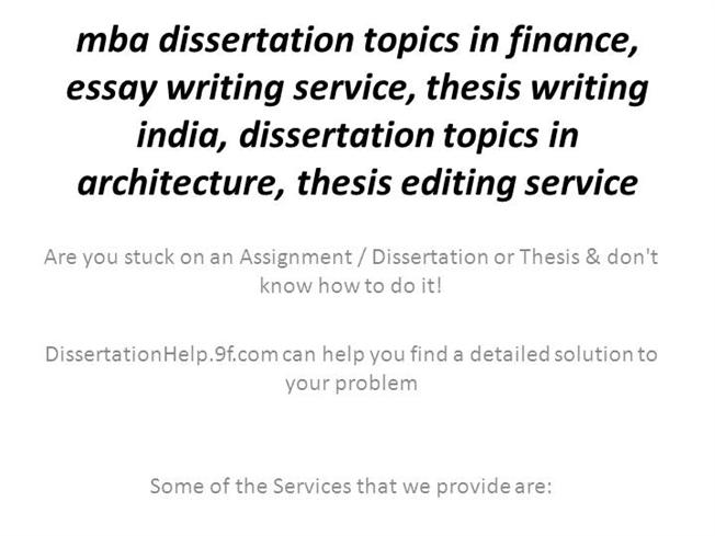 mba dissertation topics in finance, essay writing service, thesis wri…