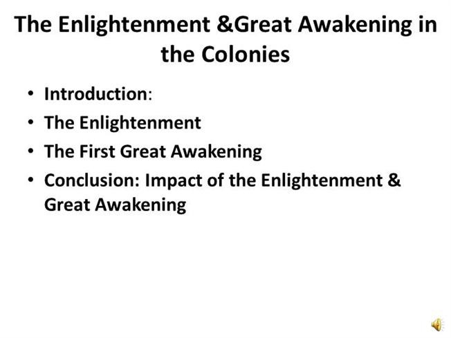 Enlightenment and the great awakening essay