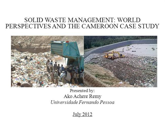 Master thesis waste management