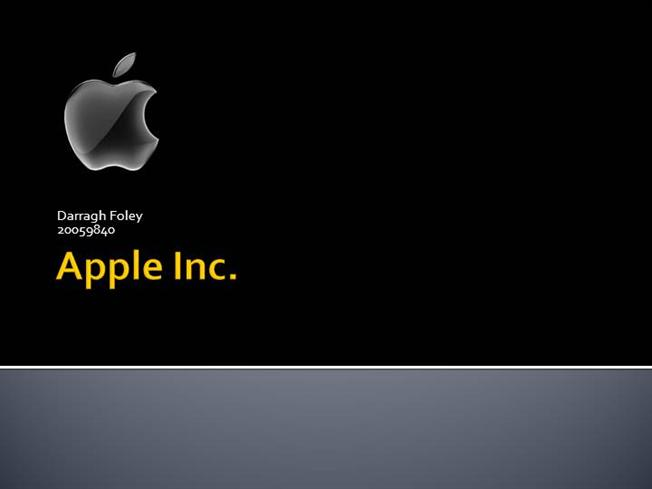 My presentation on apple inc authorstream for Power point templates for mac