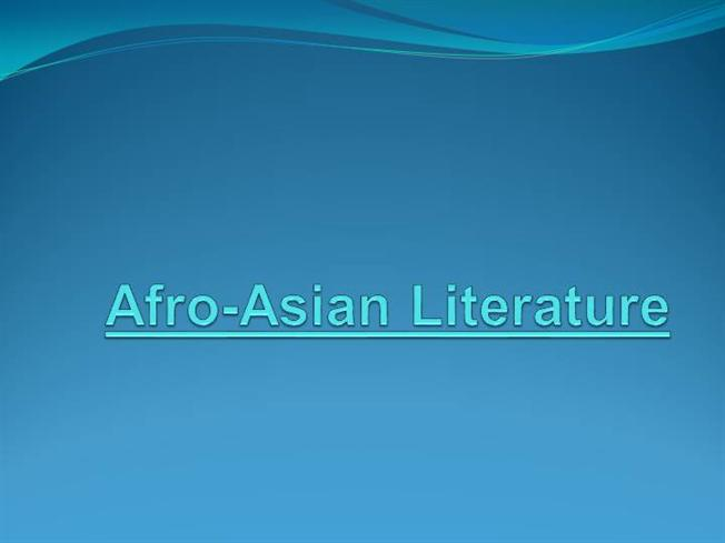literature asian background afro of