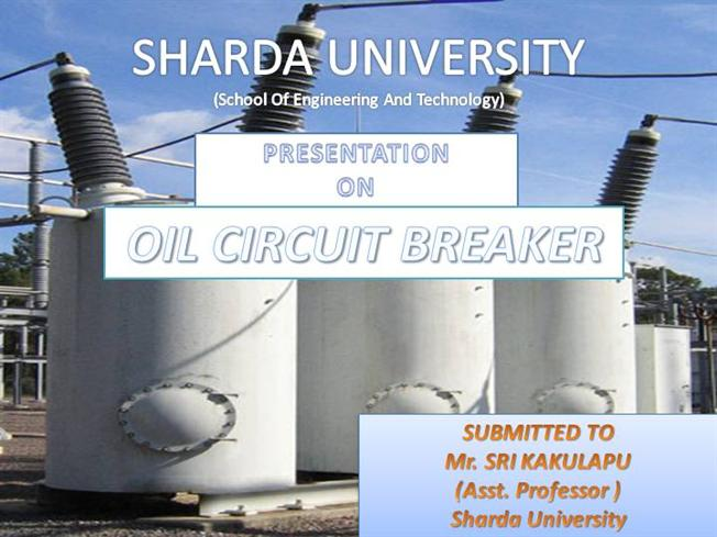 Classification Circuit Breaker Oil Circuit Breaker