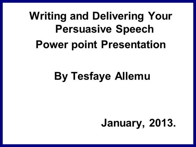 persuasive special message powerpoint presentation